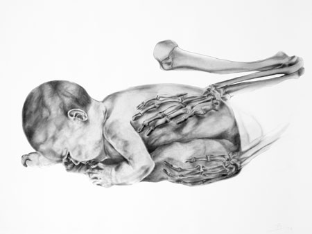 Artwork: drawing of baby by Anita Salemink