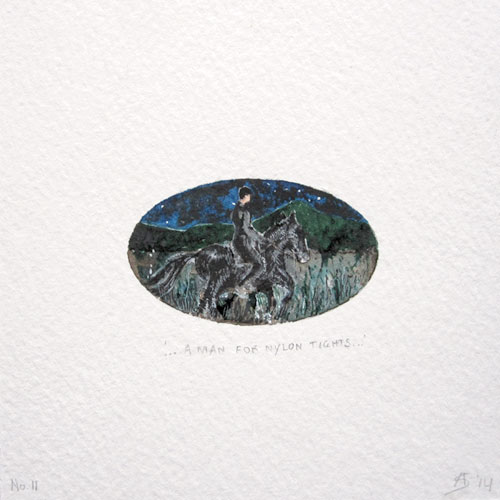 © Anita Salemink 2014. 100 Days: 100 paintings, No.11 Watercolour 12.5 by 12.5 cm