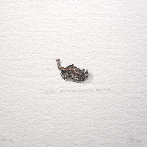 © Anita Salemink 2014. 100 Days: 100 paintings, No.12 Watercolour 12.5 by 12.5 cm