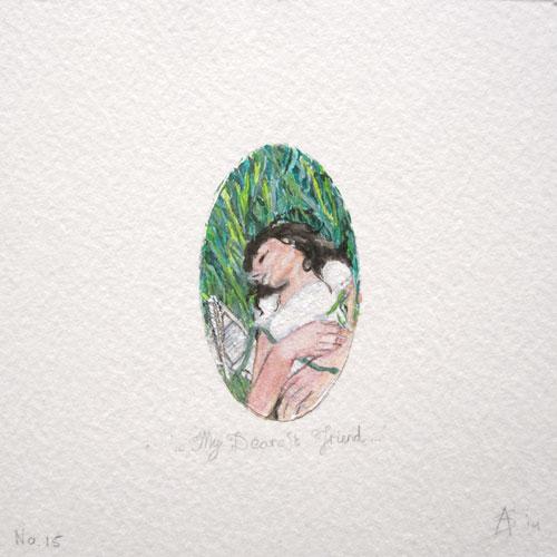© Anita Salemink 2014. 100 Days: 100 paintings, No.15 Watercolour 12.5 by 12.5 cm