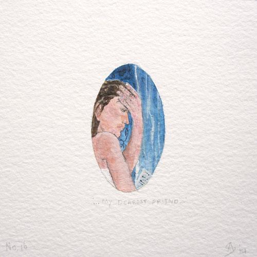 © Anita Salemink 2014. 100 Days: 100 paintings, No.16 Watercolour 12.5 by 12.5 cm