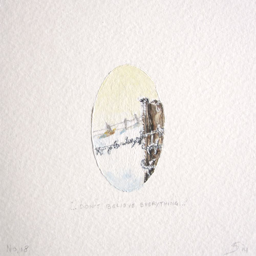 © Anita Salemink 2014. 100 Days: 100 paintings, No.18 Watercolour 12.5 by 12.5 cm