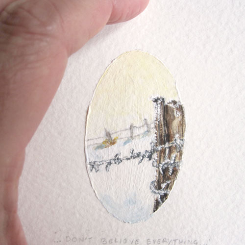 © Anita Salemink 2014. 100 Days: 100 paintings, No.18 (detail) Watercolour 12.5 by 12.5 cm