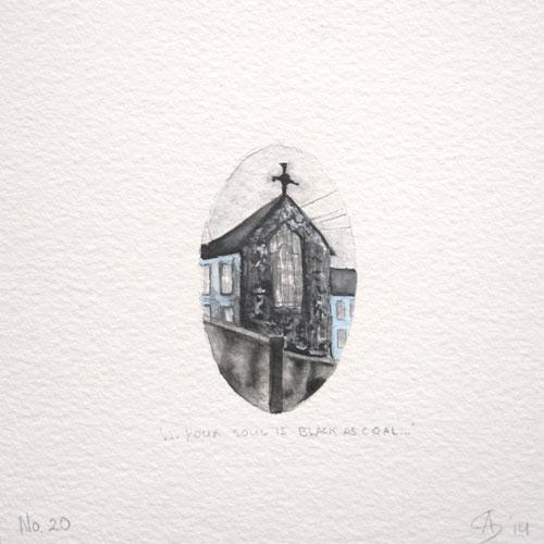 © Anita Salemink 2014. 100 Days: 100 paintings, No.20  Watercolour 12.5 by 12.5 cm