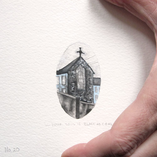 © Anita Salemink 2014. 100 Days: 100 paintings, No.20  (detail) Watercolour 12.5 by 12.5 cm