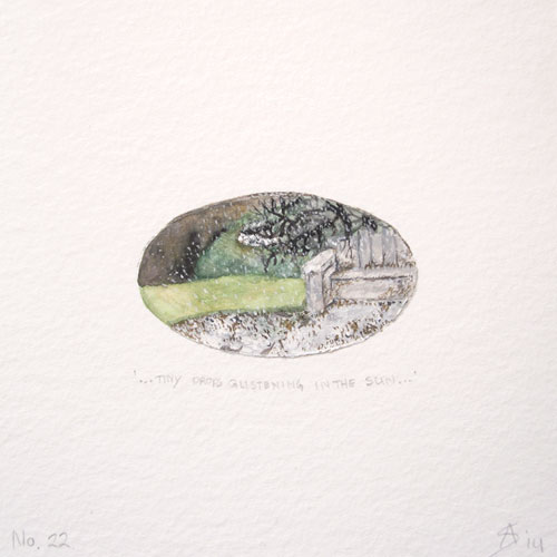 © Anita Salemink 2014. 100 Days: 100 paintings, No.22  Watercolour 12.5 by 12.5 cm