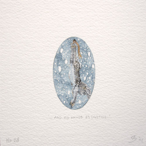 © Anita Salemink 2014. 100 Days: 100 paintings, No.28  Watercolour 12.5 by 12.5 cm