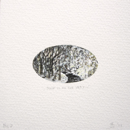 © Anita Salemink 2014. 100 Days: 100 paintings, No.7. Watercolour 12.5 by 12.5 cm