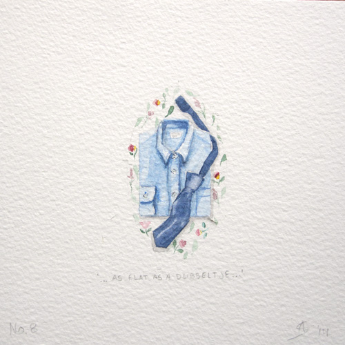 © Anita Salemink 2014. 100 Days: 100 paintings, No.8 Watercolour 12.5 by 12.5 cm