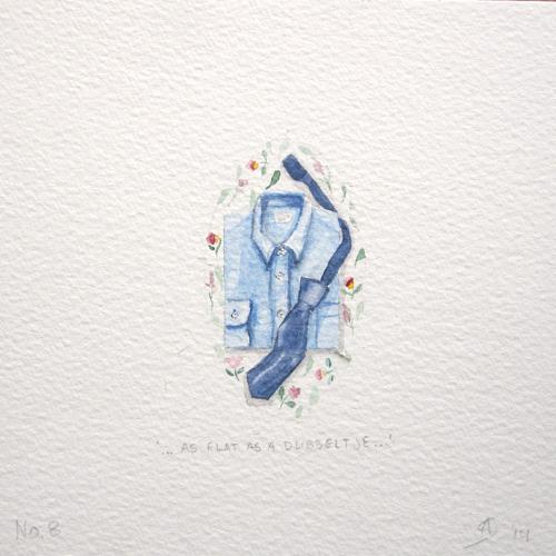 © Anita Salemink 2014. 100 Days: 100 paintings, No.8 Watercolour 12.5 by 12.5 cm