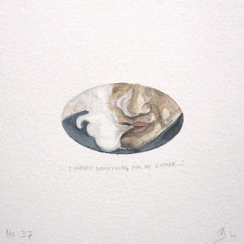 © Anita Salemink 2014. 100 Days: 100 paintings, No.37  Watercolour 12.5 by 12.5 cm