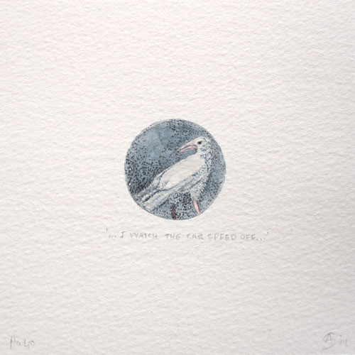 © Anita Salemink 2014. 100 Days: 100 paintings, No.40  Watercolour 12.5 by 12.5 cm
