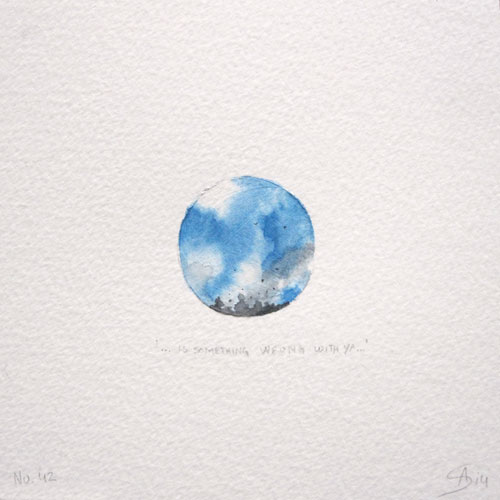 © Anita Salemink 2014. 100 Days: 100 paintings, No.42  Watercolour 12.5 by 12.5 cm