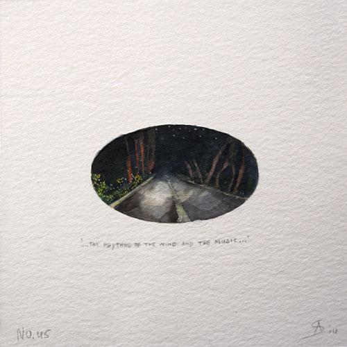 © Anita Salemink 2014. 100 Days: 100 paintings, No. 45  Watercolour 12.5 by 12.5 cm