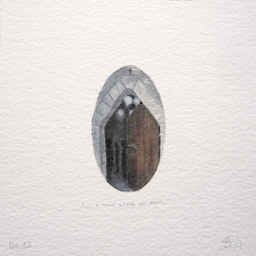 © Anita Salemink 2014. 100 Days | 100 paintings, No. 53  Watercolour 12.5 by 12.5 cm