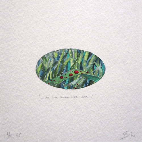 © Anita Salemink 2014. 100 Days | 100 paintings, No. 55  Watercolour 12.5 by 12.5 cm
