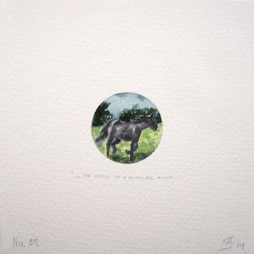 © Anita Salemink 2014. 100 Days   100 paintings, No. 59  Watercolour 12.5 by 12.5 cm