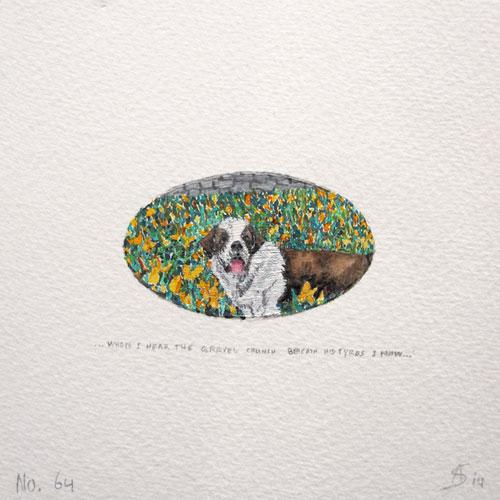© Anita Salemink 2014. 100 Days | 100 paintings, No. 64  Watercolour 12.5 by 12.5 cm