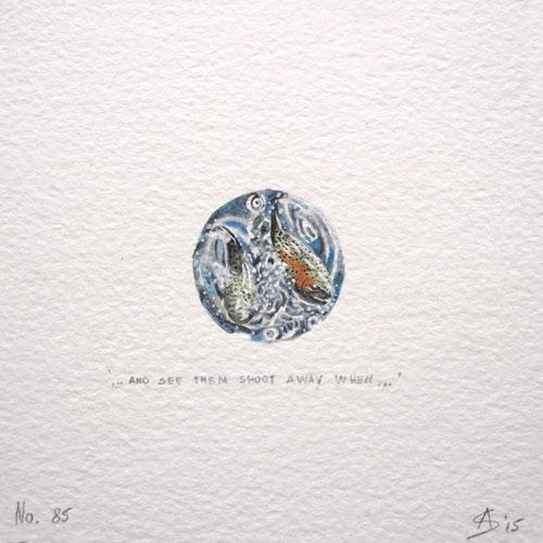 © Anita Salemink 2015. 100 Days   100 paintings, No. 85  Watercolour 12.5 by 12.5 cm
