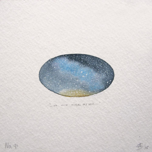 © Anita Salemink 2015. 100 Days | 100 paintings, No. 91 Watercolour 12.5 by 12.5 cm