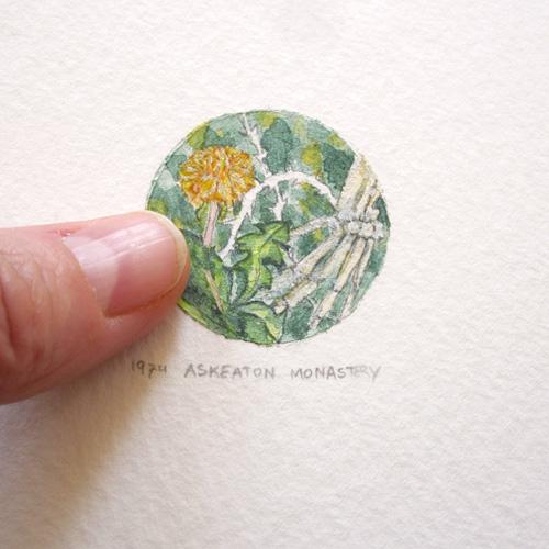 © Anita Salemink 2015. Memories No. 1 (Detail) Watercolour 12.5 by 12.5 cm