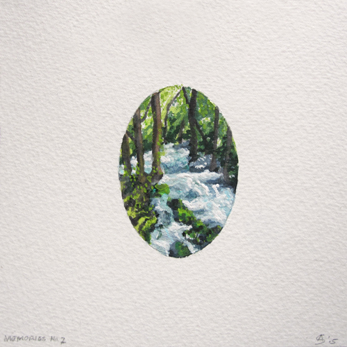 © Anita Salemink 2015. Memories No. 7 Watercolour 12.5 by 12.5 cm