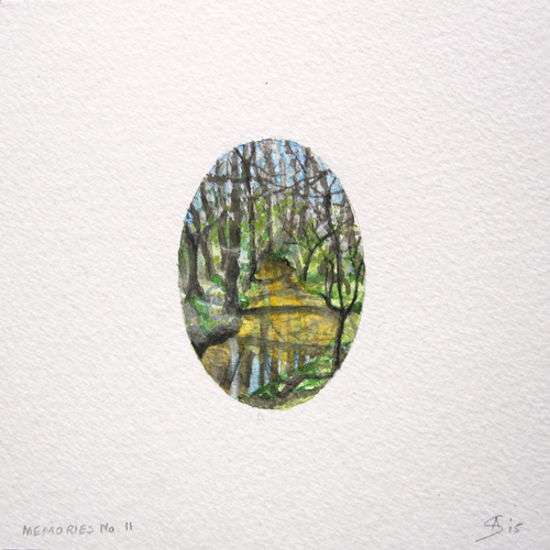 © Anita Salemink 2015. Memories No. 11 Watercolour 12.5 by 12.5 cm