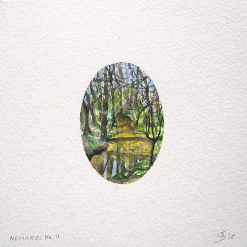 © Anita Salemink 2015. Memories No. 11 Watercolour 12.5 by 12.5 cm