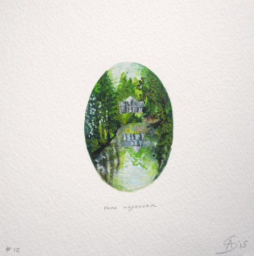 © Anita Salemink 2015. Memories No. 12 Watercolour 12.5 by 12.5 cm