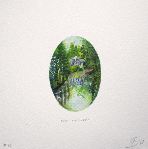 © Anita Salemink 2015. Memories No. 12 Watercolour 12.5 by 12.5 cm