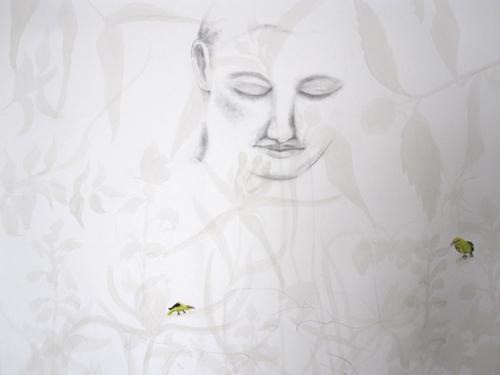 © Anita Salemink 2015. I Was a Dreamer 100 x 70 cm (Work in progress)