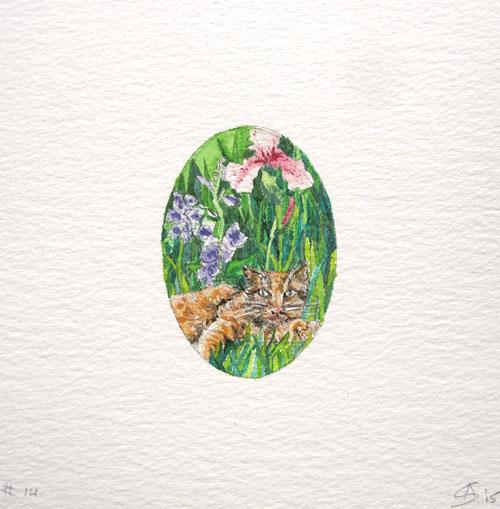 © Anita Salemink 2015. Memories No. 14 Watercolour 12.5 by 12.5 cm