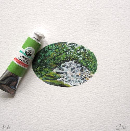© Anita Salemink 2015. Memories No. 16  (detail) Watercolour 12.5 by 12.5 cm