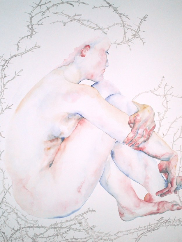 © Anita Salemink 2015. Utraya Mokri 5 Watercolor 108 x 74 cm