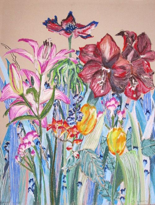 Amaryllis © Anita Salemink 2017, 65 x 50 cm